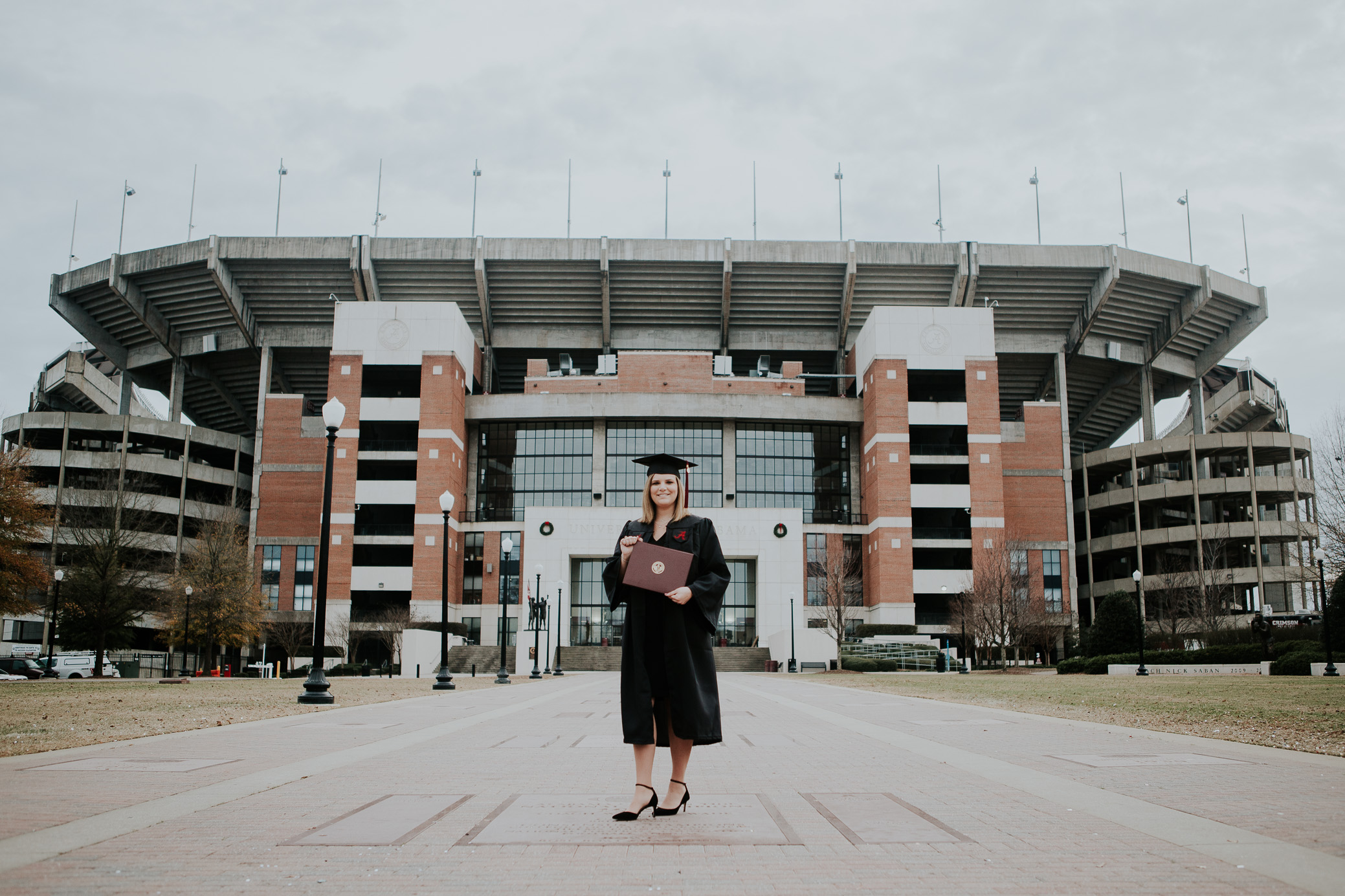College graduation photos at The University of Alabama in Tuscaloosa, Alabama by David A. Smith of DSmithImages Wedding Photography, Portraits, and Events in Birmingham, Alabama