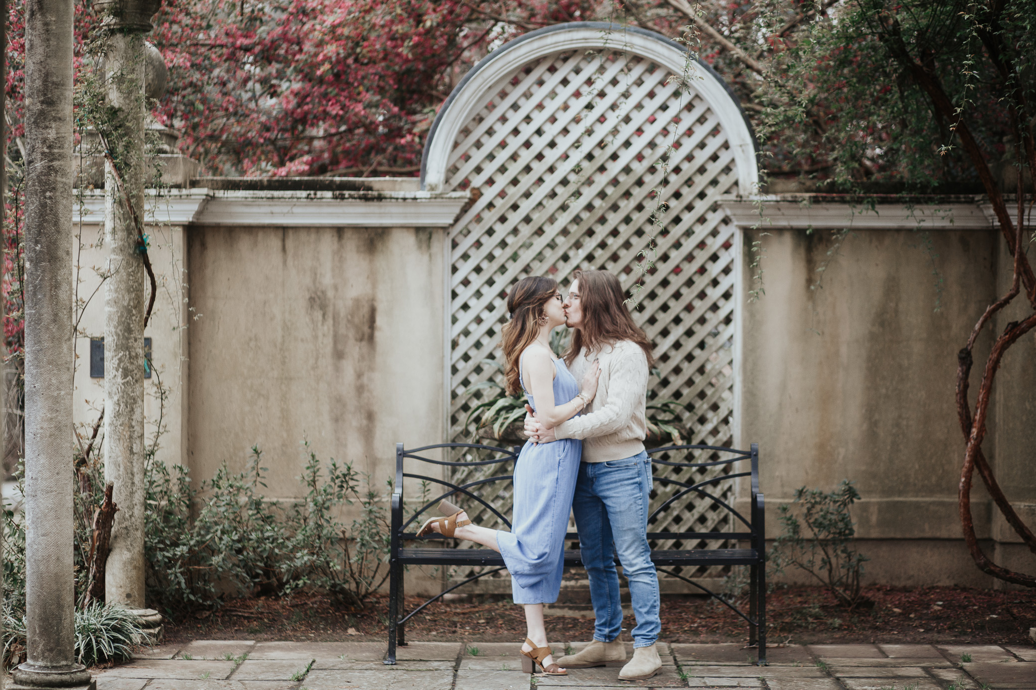 Birmingham Botanical Gardens Alabama engagement photography by David A. Smith of DSmithImages Wedding Photography, Portraits, and Events, a wedding photographer in Birmingham, Alabama