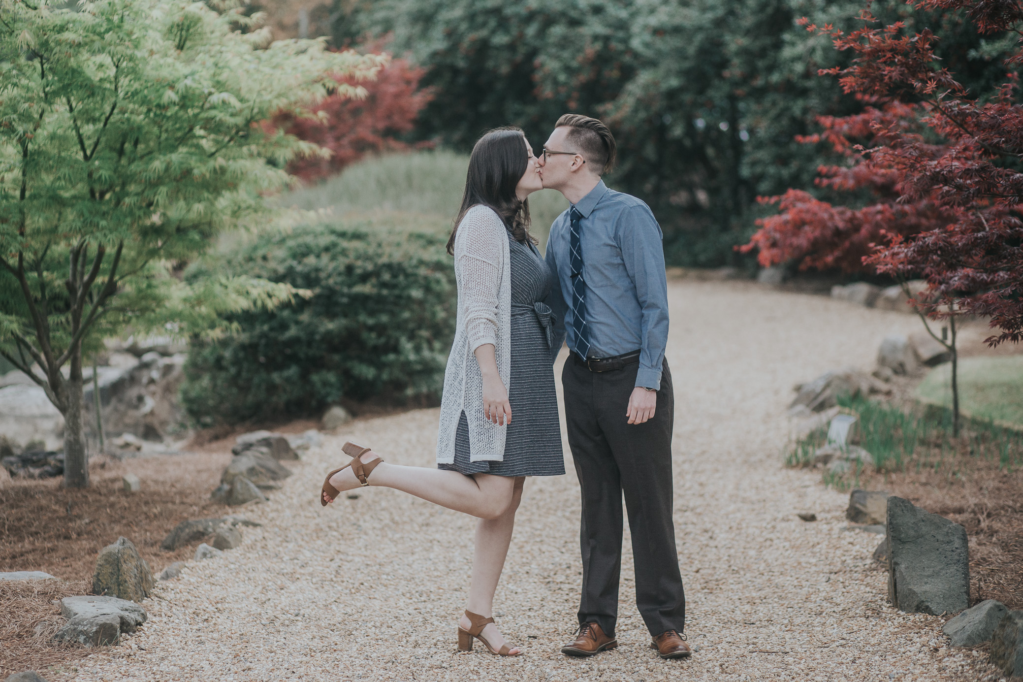 Birmingham Alabama engagement photography at the Birmingham Botanical Gardens by wedding photographer David A. Smith of DSmithImages Wedding Photography, Portraits, and Events