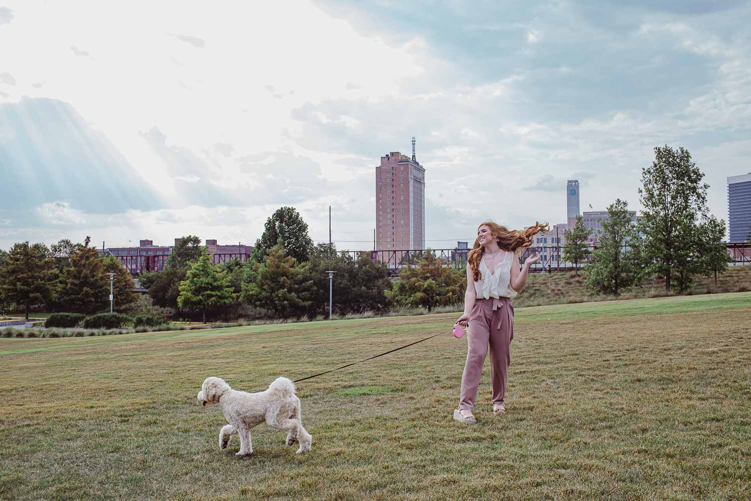 Birmingham Alabama senior portraits at Railroad Park by David A. Smith of DSmithImages Wedding Photography, Portraits, and Events