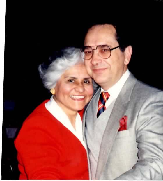 Robert with his late wife Bernice Barbera