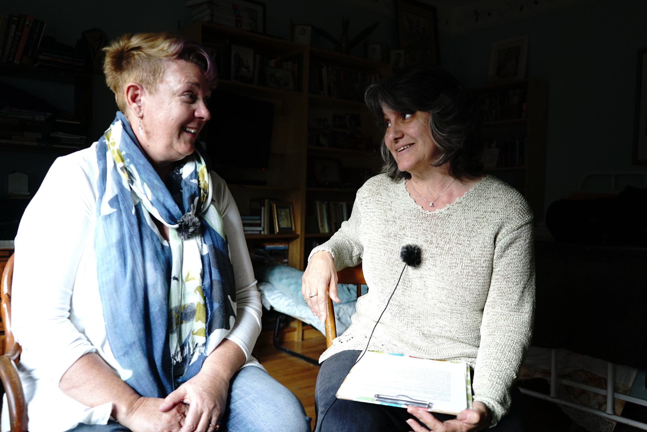 Dr. Peg Lamphier, Author and Dr. Rosanne Welch, Host, recording this Mentoris Project Podcast