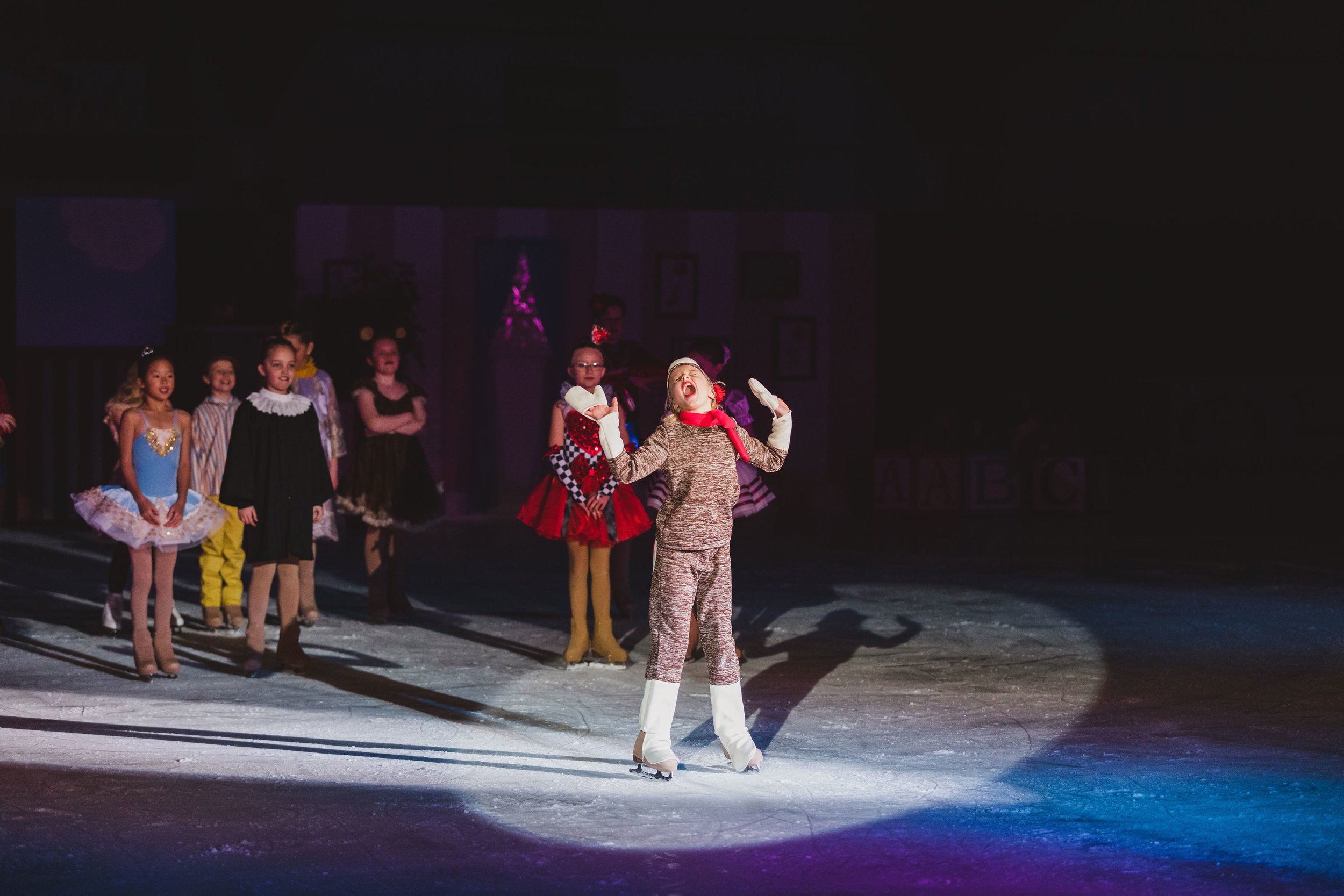 Younger Team Skaters perform as an ensemble in our Spring 2019 Show