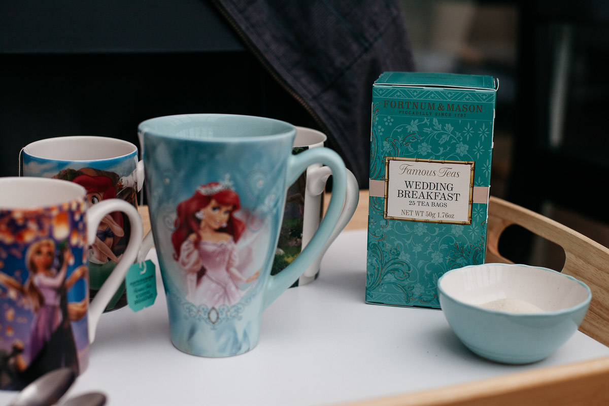 Wedding Breakfast Tea Ariel Mug - Alternative Wedding Photographer