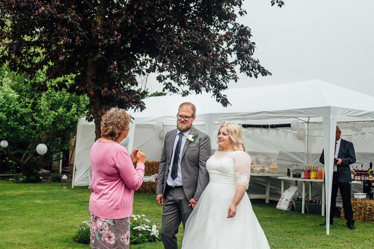 Bridal Portrait - Back Garden Wedding, Newark