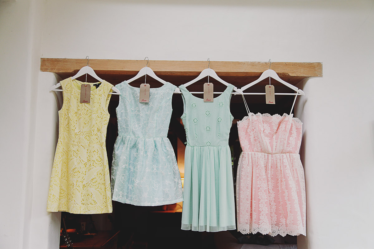 Pastel Bridesmaid Dresses - UK Alternative Wedding Photography Chloe Lee Photo