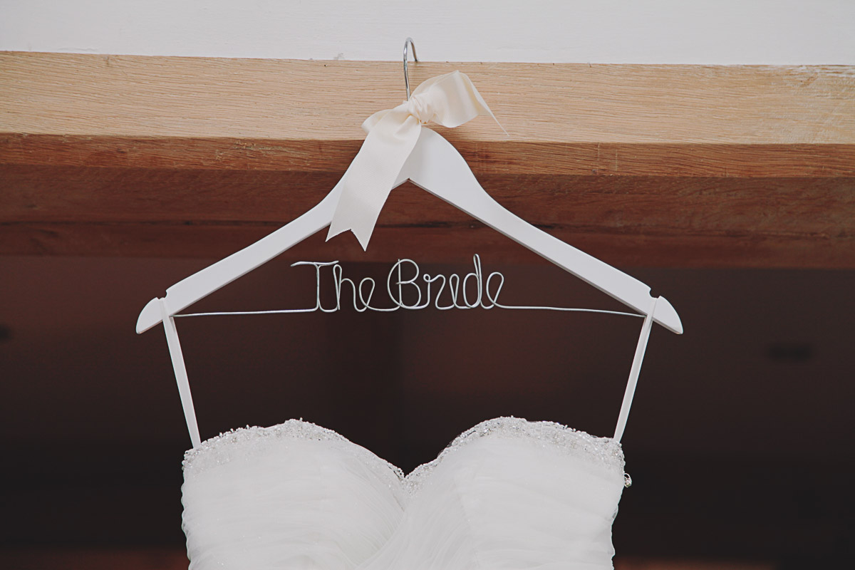 Bride Wooden Hanger - UK Alternative Wedding Photography Chloe Lee Photo