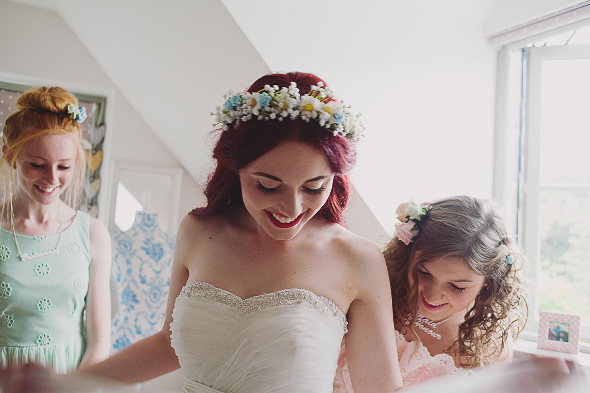 Bride Getting Ready - UK Alternative Wedding Photography Chloe Lee Photo