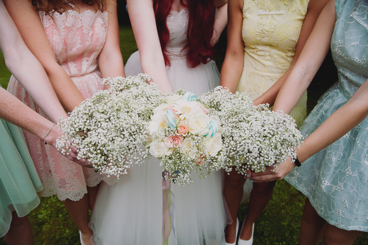 Babys breath wedding Bouquets - UK Alternative Wedding Photography Chloe Lee Photo