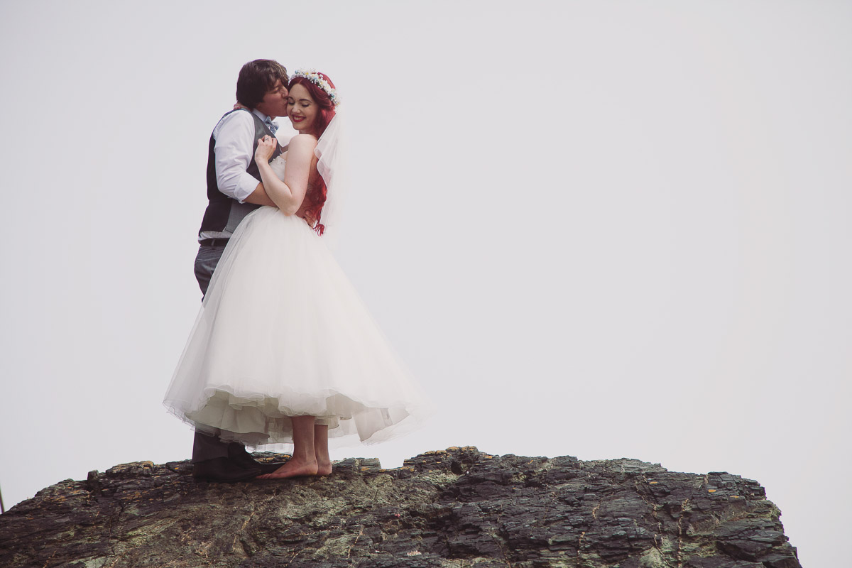 Disney Inspired Wedding Portraits Beach - UK Alternative Wedding Photography Chloe Lee Photo