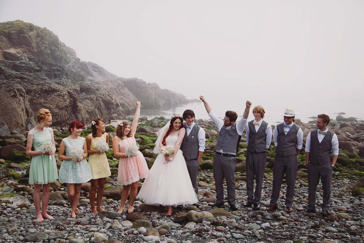 Fun Wedding Group Shots - UK Alternative Wedding Photography Chloe Lee Photo