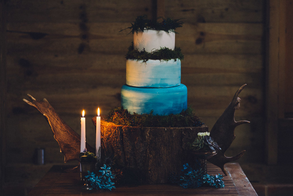 Ombre Wedding Cake - Captains Wood Barn