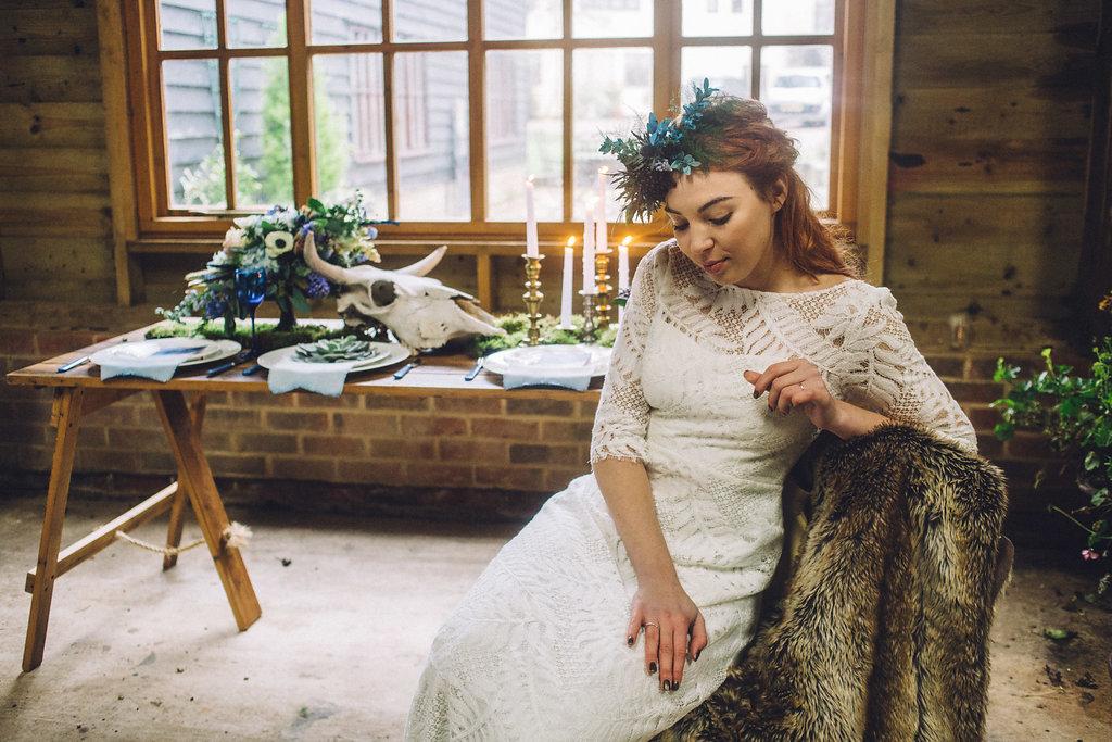 Alternative Rustic Autumn Winter Wedding Ideas - Captains Wood Barn Essex