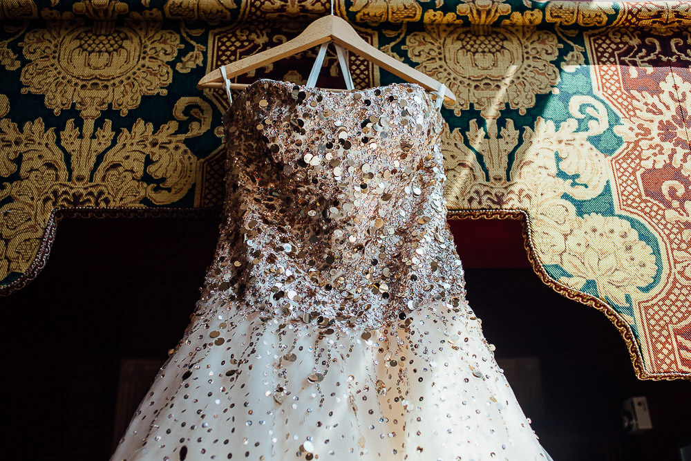 Gold Sequined Embellished Dress - Alternative Wedding Dress Ideas
