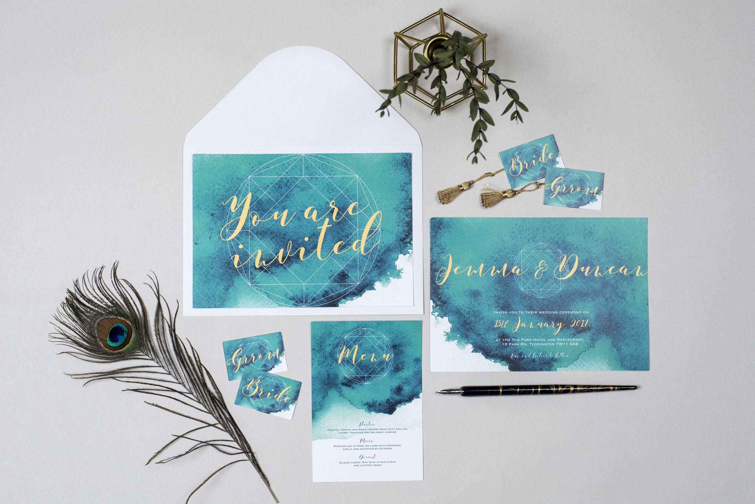 Claire Louise Creates Alternative Wedding Stationary