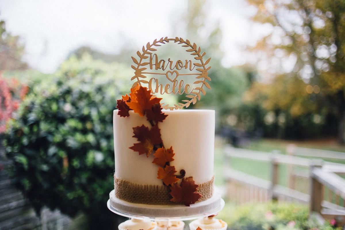 Rustic Autumnal Wedding Cake Fennes Essex - Alternative Wedding Photography