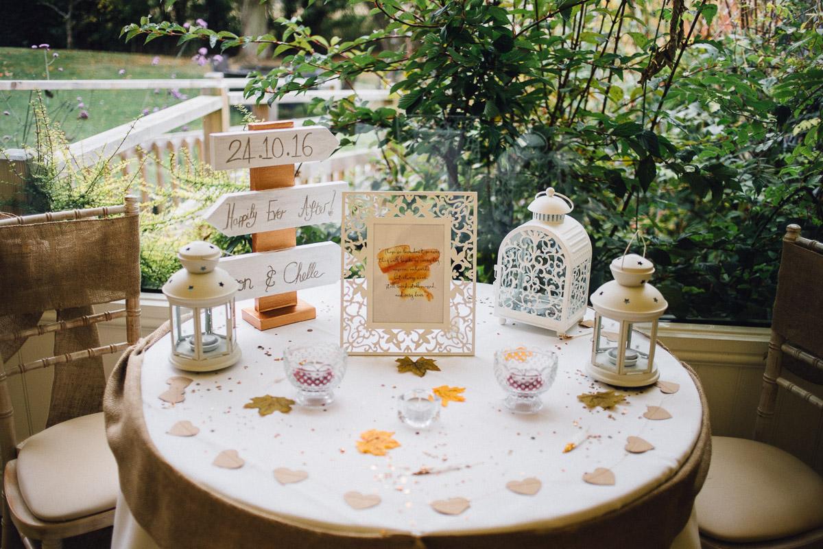 Loved Ones Table Rustic Autumnal Wedding Fennes Essex - Alternative Wedding Photography
