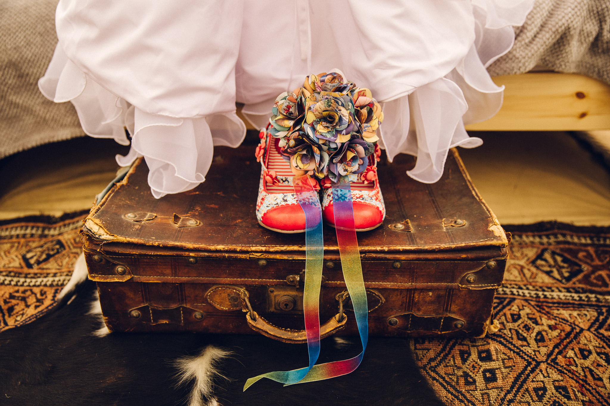 Quirky rainbow shoes Alternative Wedding Photography - I Do The Country Wed, Quainton