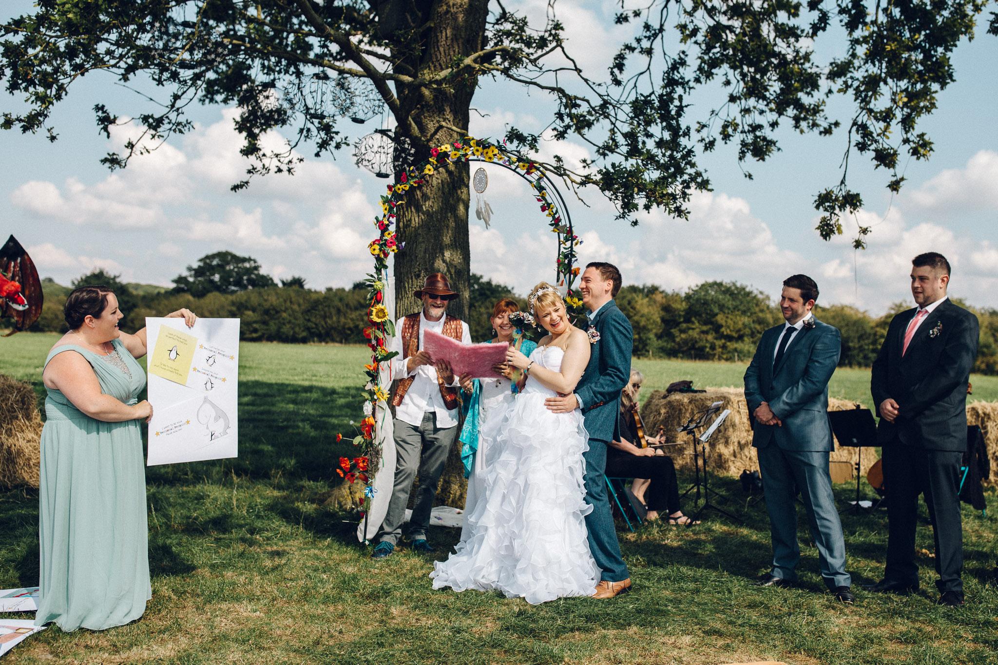 Fun colourful wedding Alternative Wedding Photography - I Do The Country Wed, Quainton