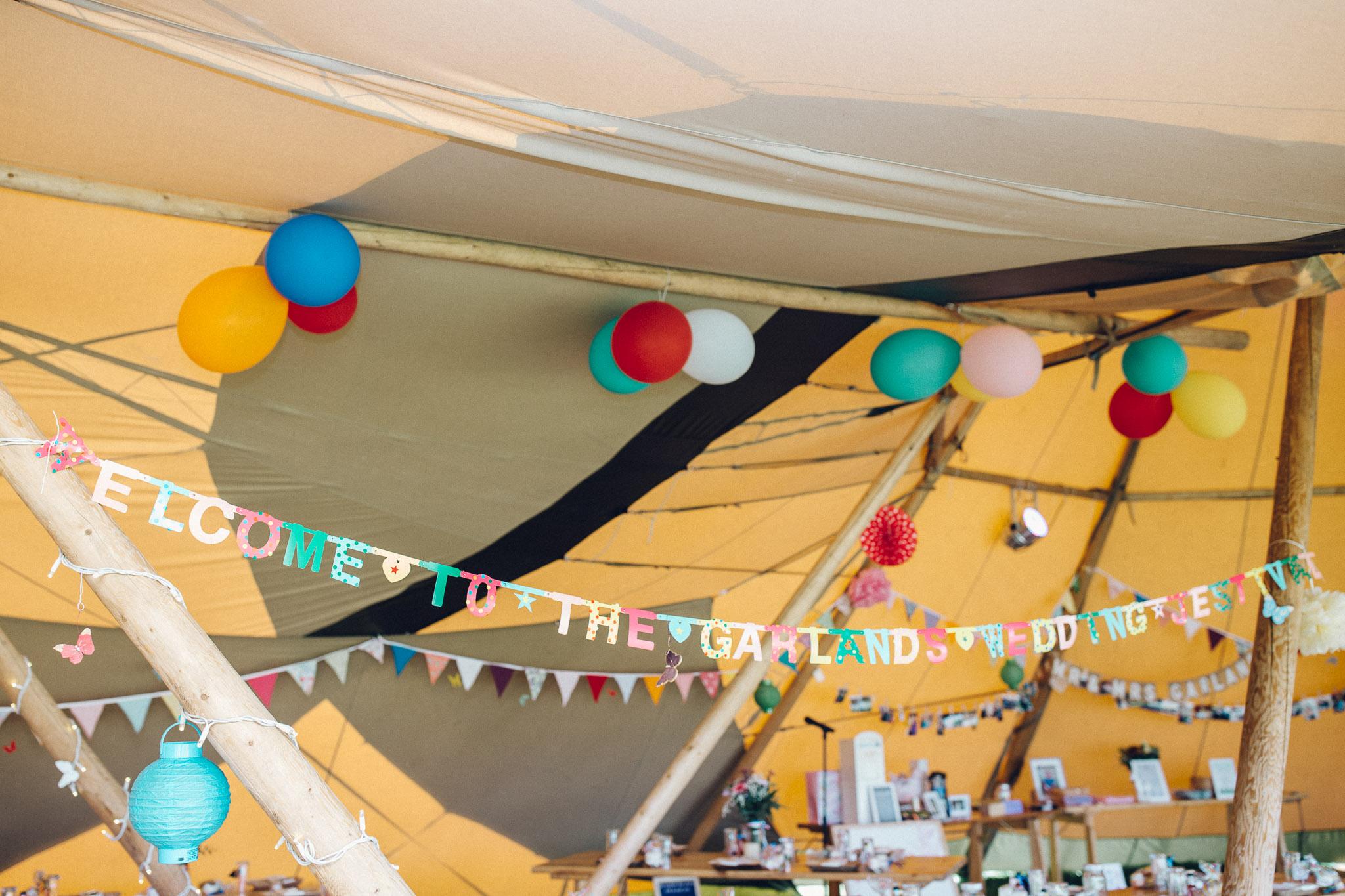 Quirky Festival Tipi decoration Alternative Wedding Photography - I Do The Country Wed, Quainton