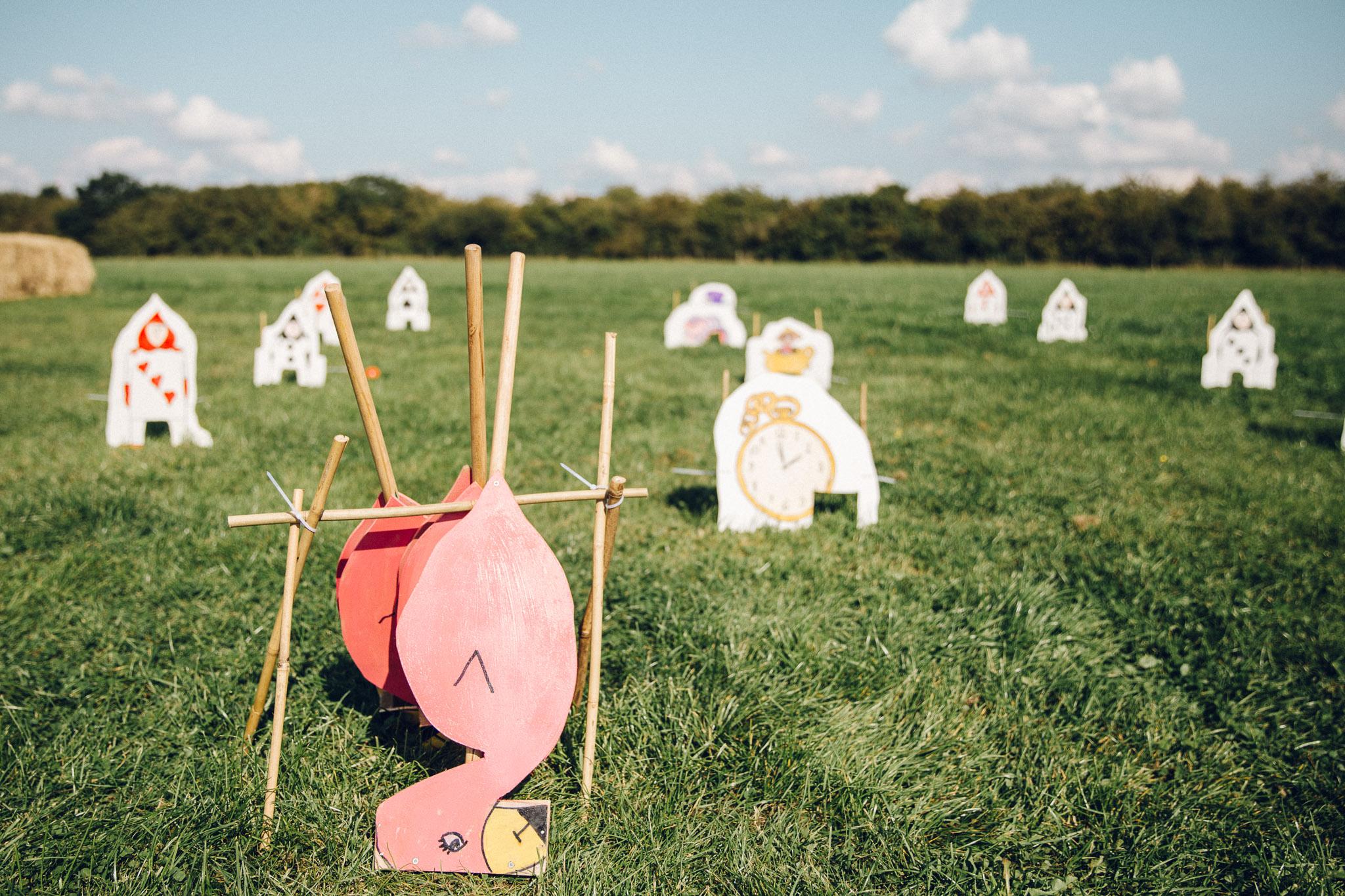 Alice in Wonderland Croquet Alternative Wedding Photography - I Do The Country Wed, Quainton