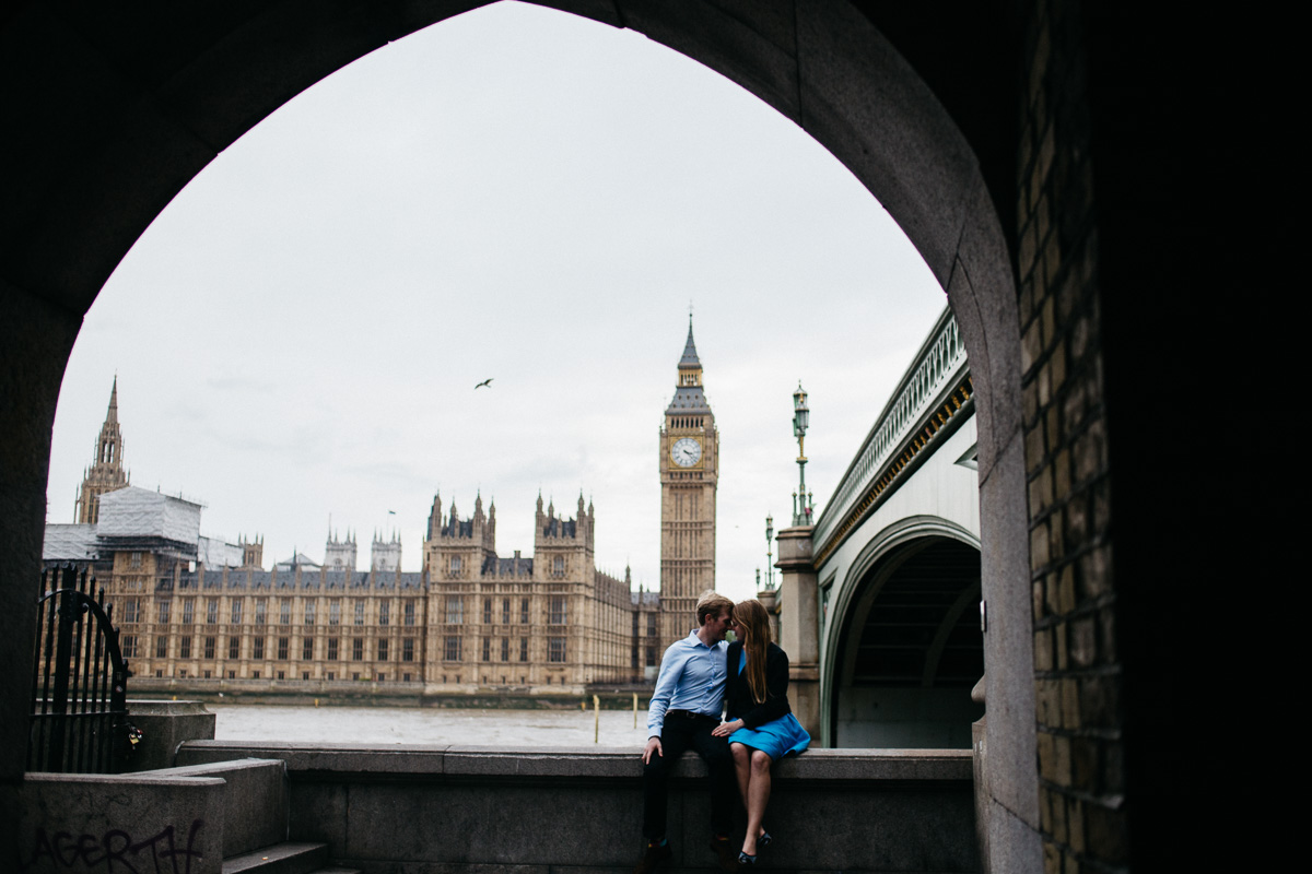 London Engagement Shoot Tower Bridge