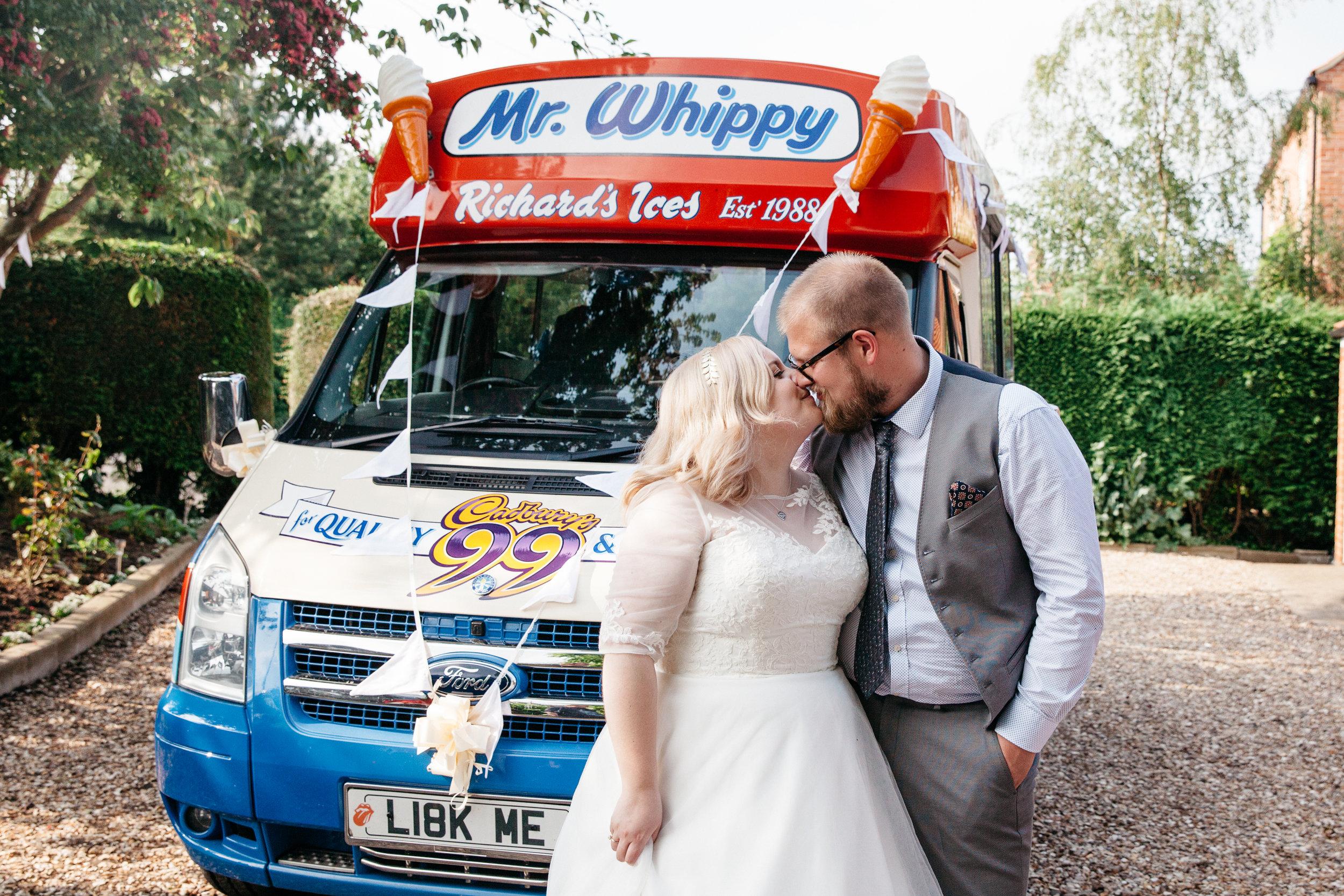 Alternative Wedding Food Ideas - Ice Cream Van
