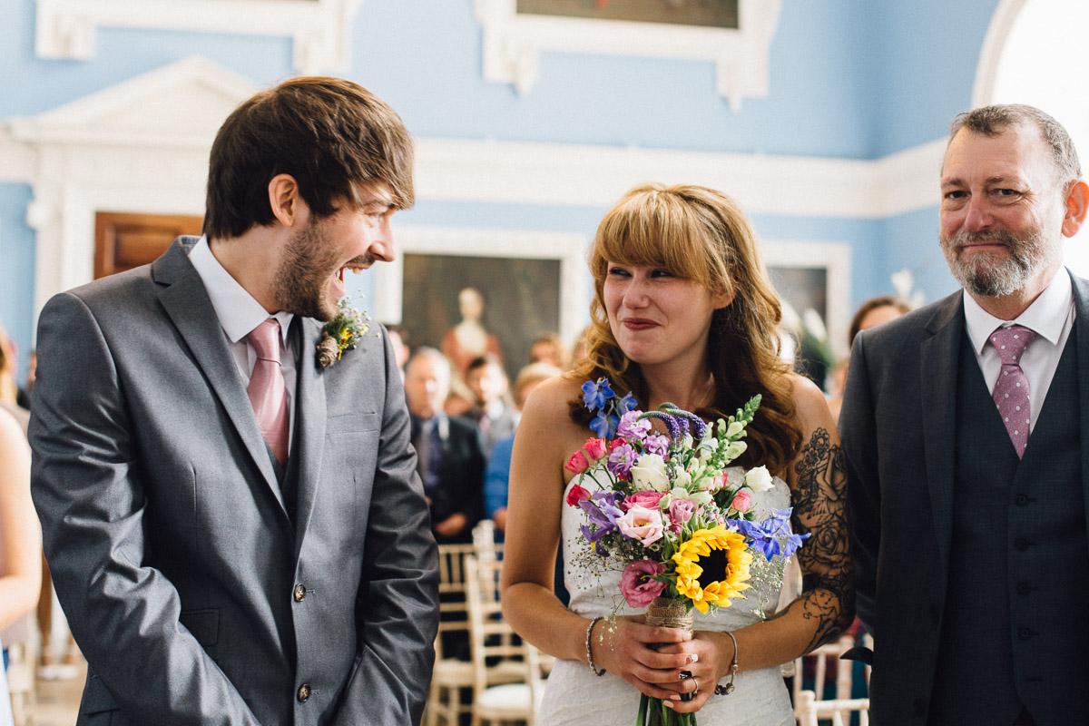 Bride Meeting Groom At Top of Aisle