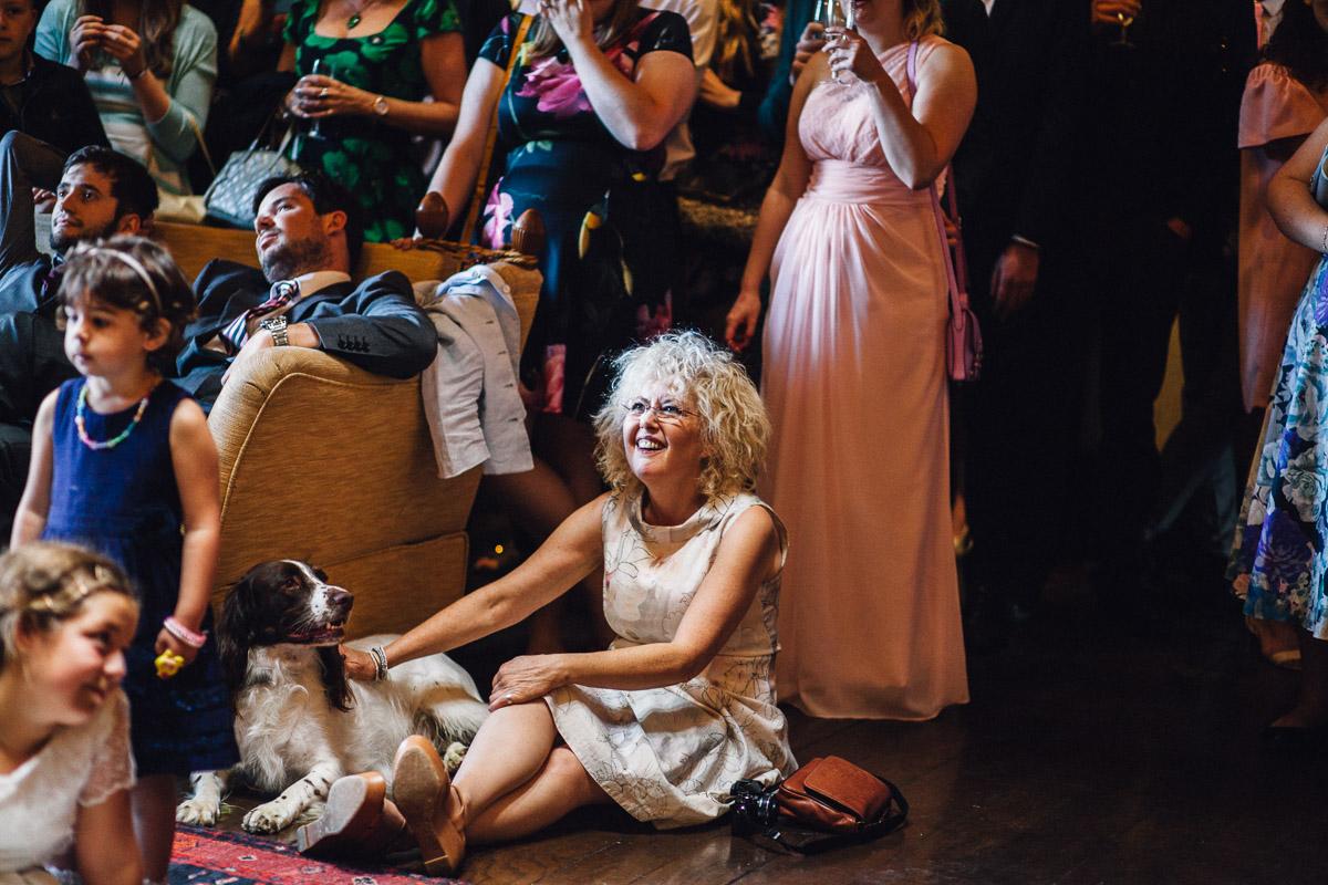 Mother of Bride Watches Wedding speech