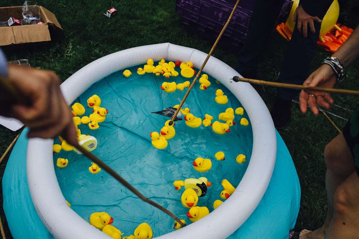 Guests playing Hook a Duck