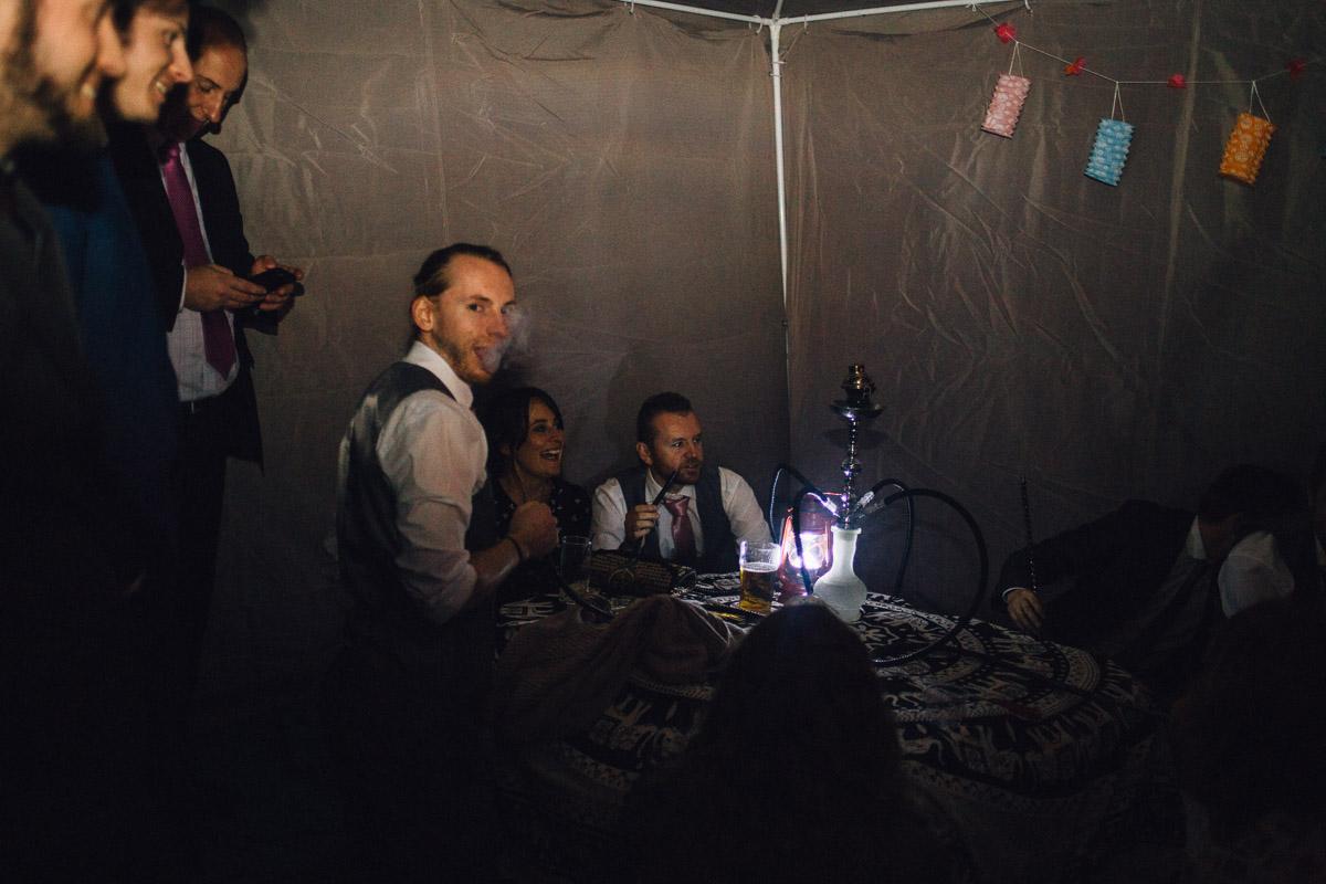 Wedding Guests in Shisha Tent