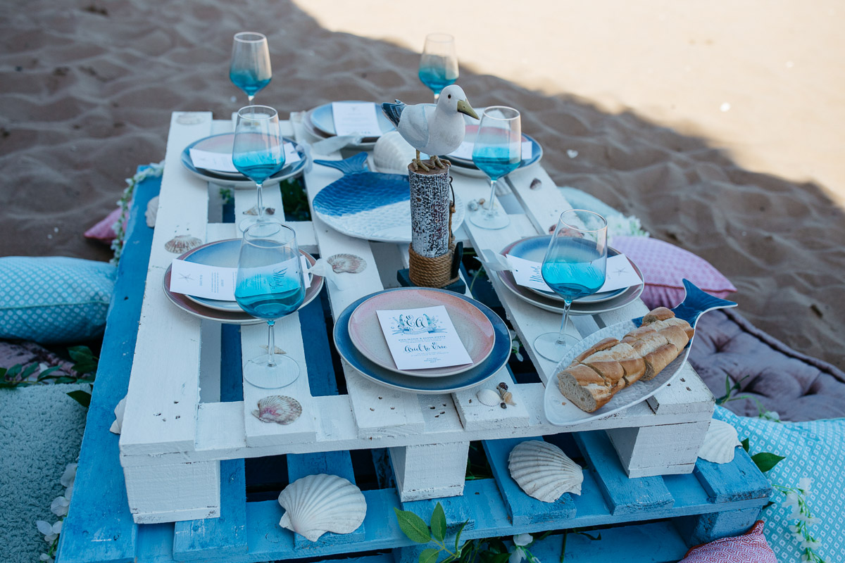 Disney Boho Beach Inspired Wedding Table