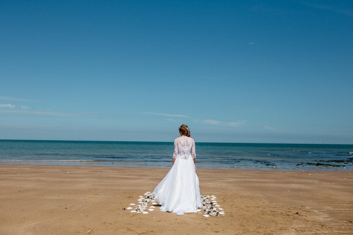 Beach Wedding Shell Aisle
