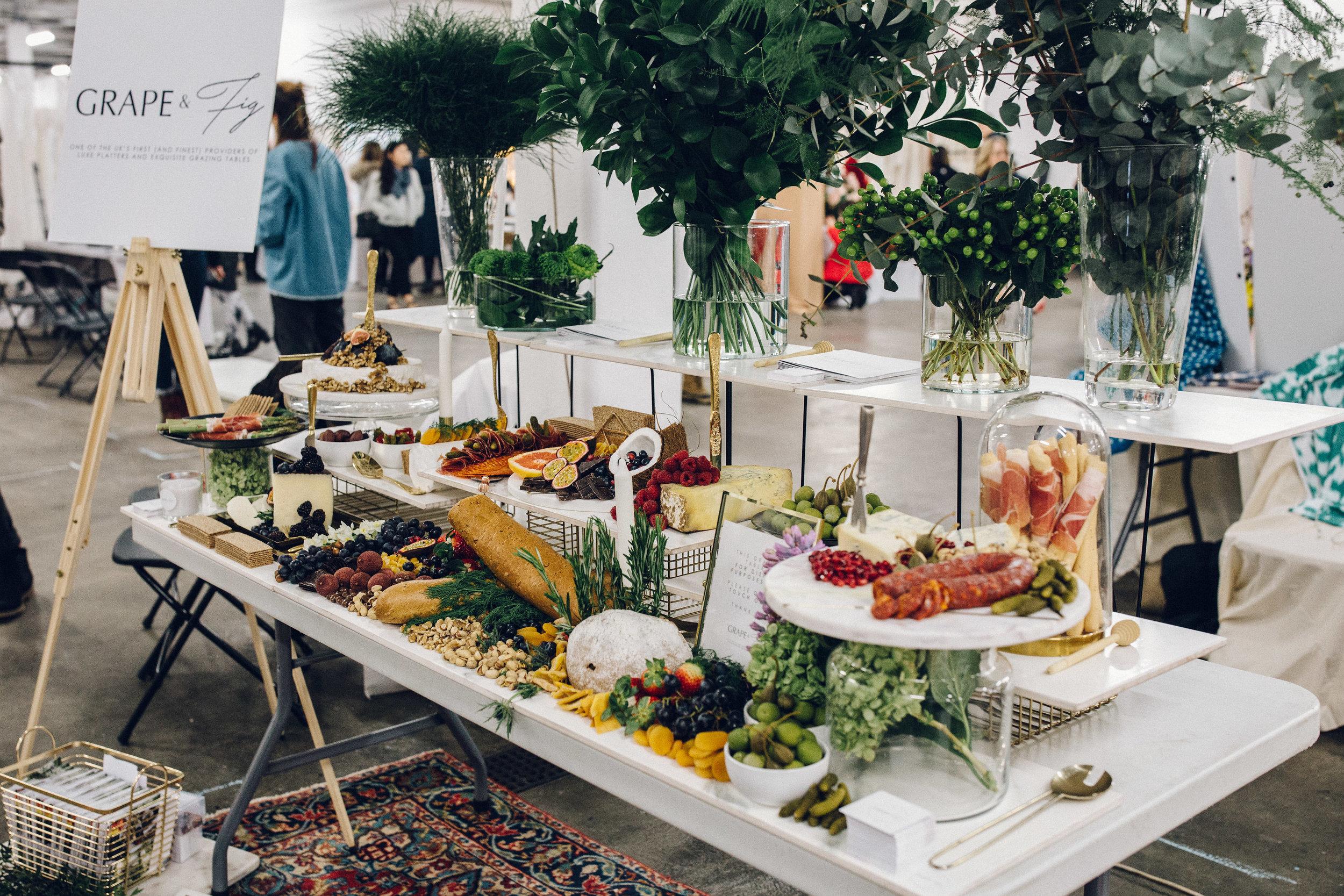 Alternative Wedding Food Ideas - Grazing Platters Grape & Fig
