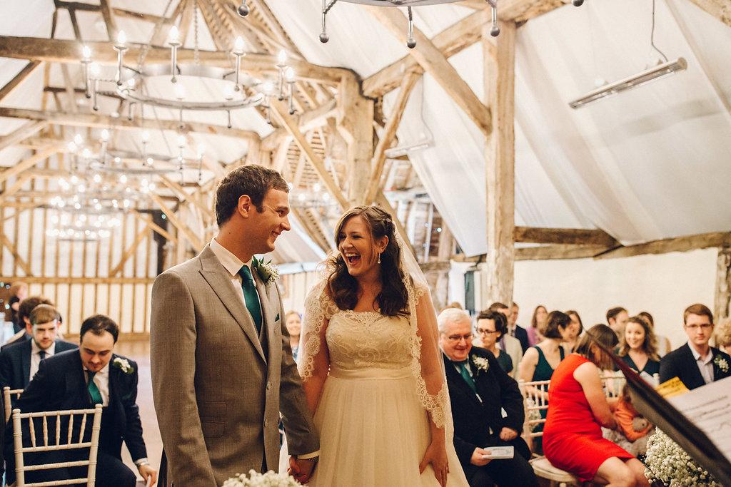 Couple Exchange Vows at Colville Hall Wedding Venue