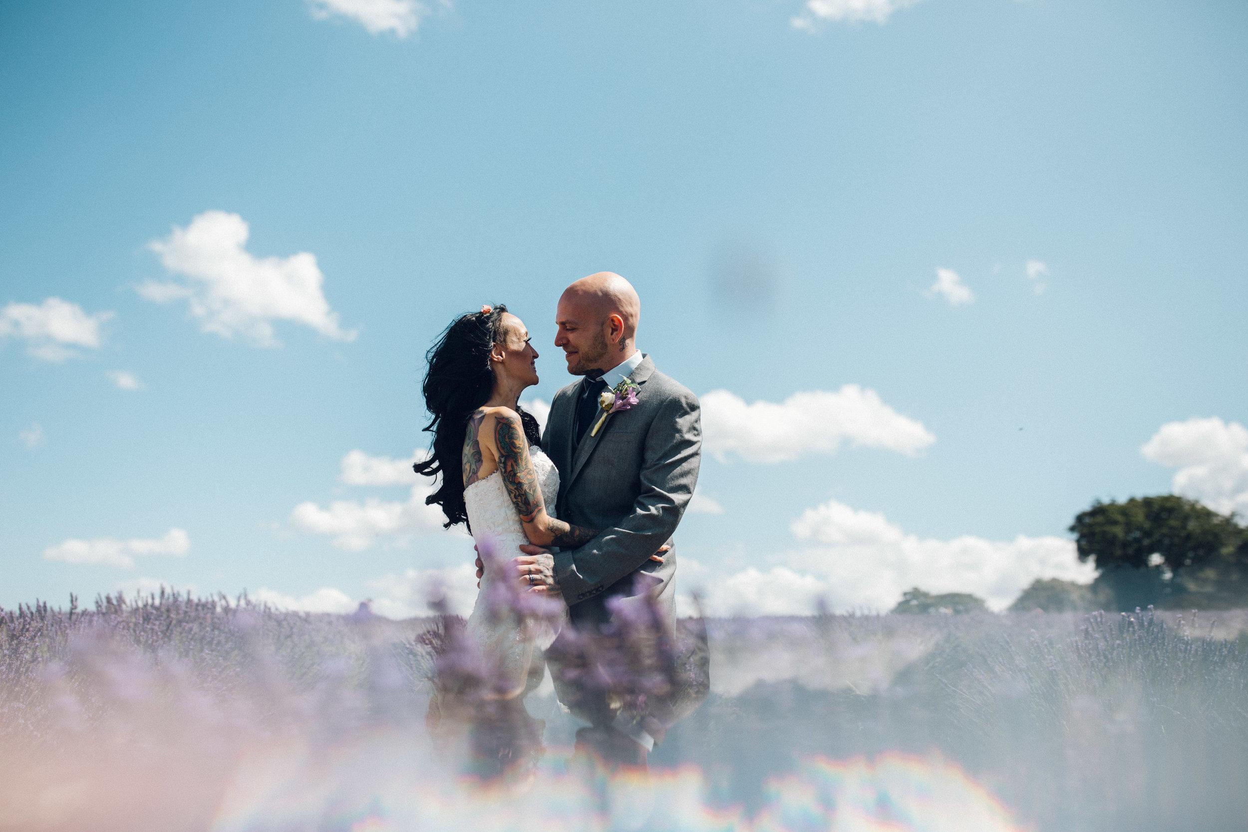 Mayfield Lavender Farm Surrey wedding photos