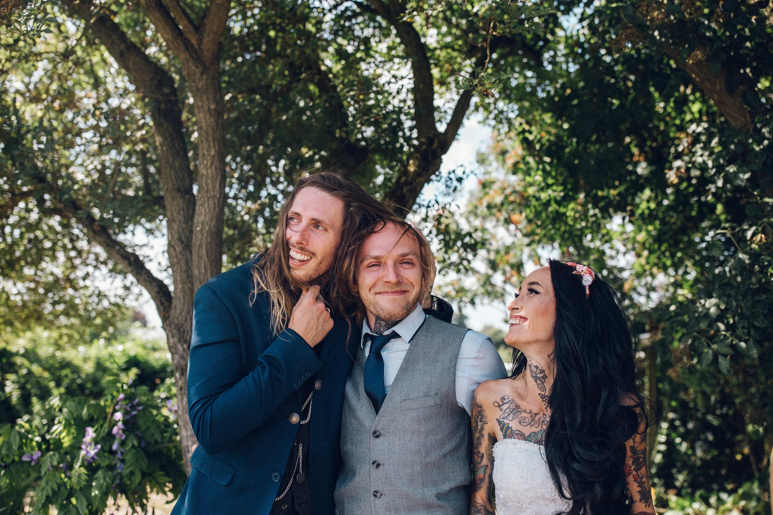 Fun Group photos at Zinnia Garden Wedding