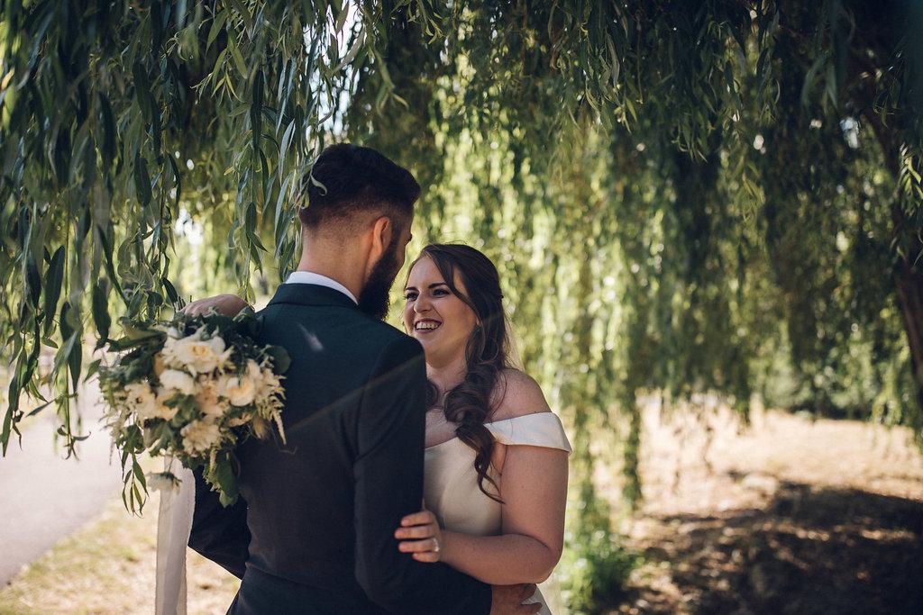 Relaxed wedding photography at Tudor Barn