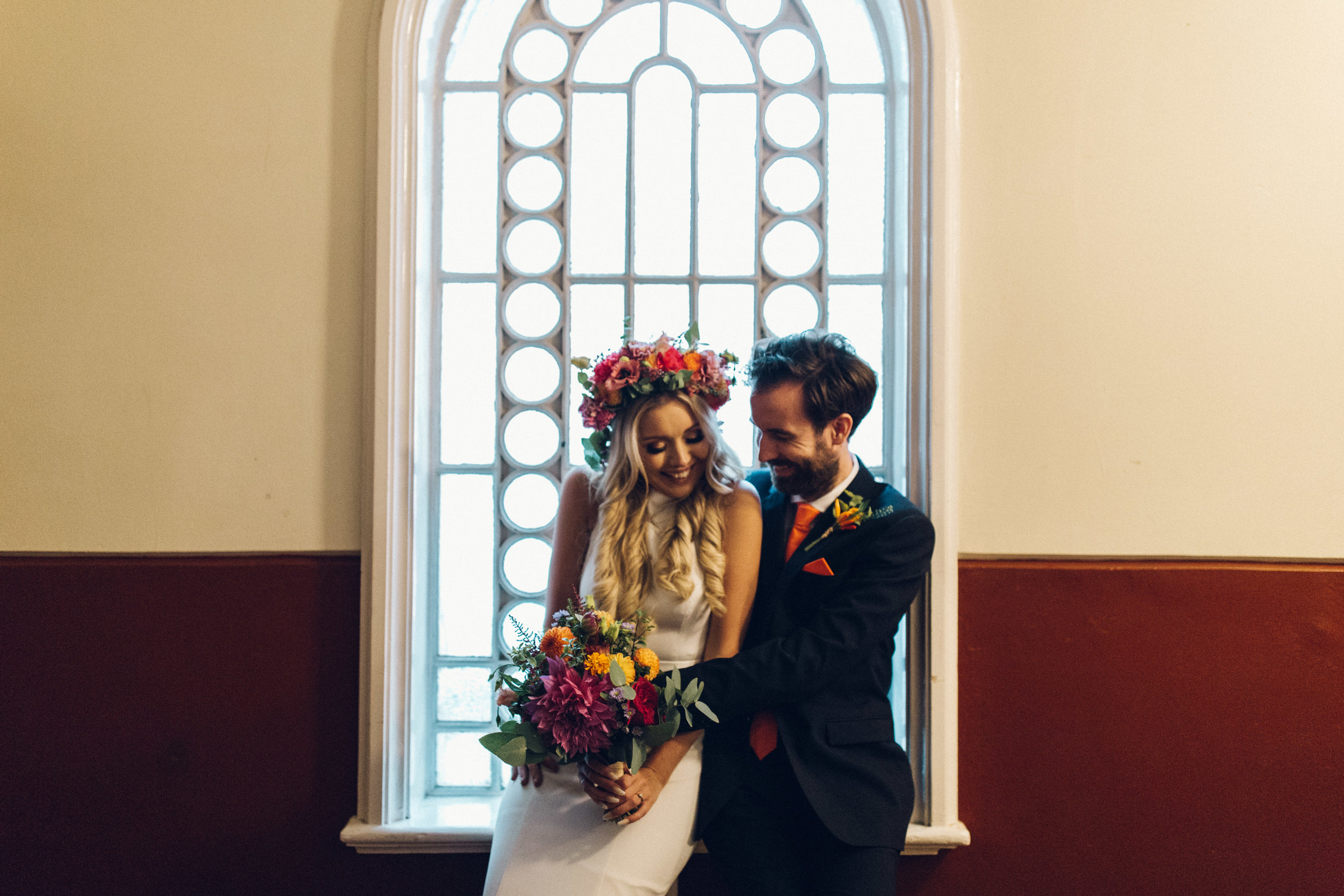 Rainy wedding day Hackney Round Chapel - Chloe Lee Photo Alternative wedding photography
