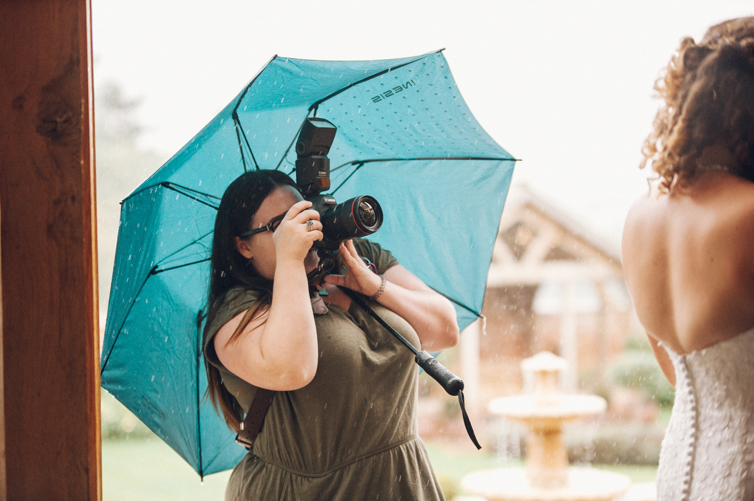 Photographing a wedding in the rain - Upton Barn and Walled Garden