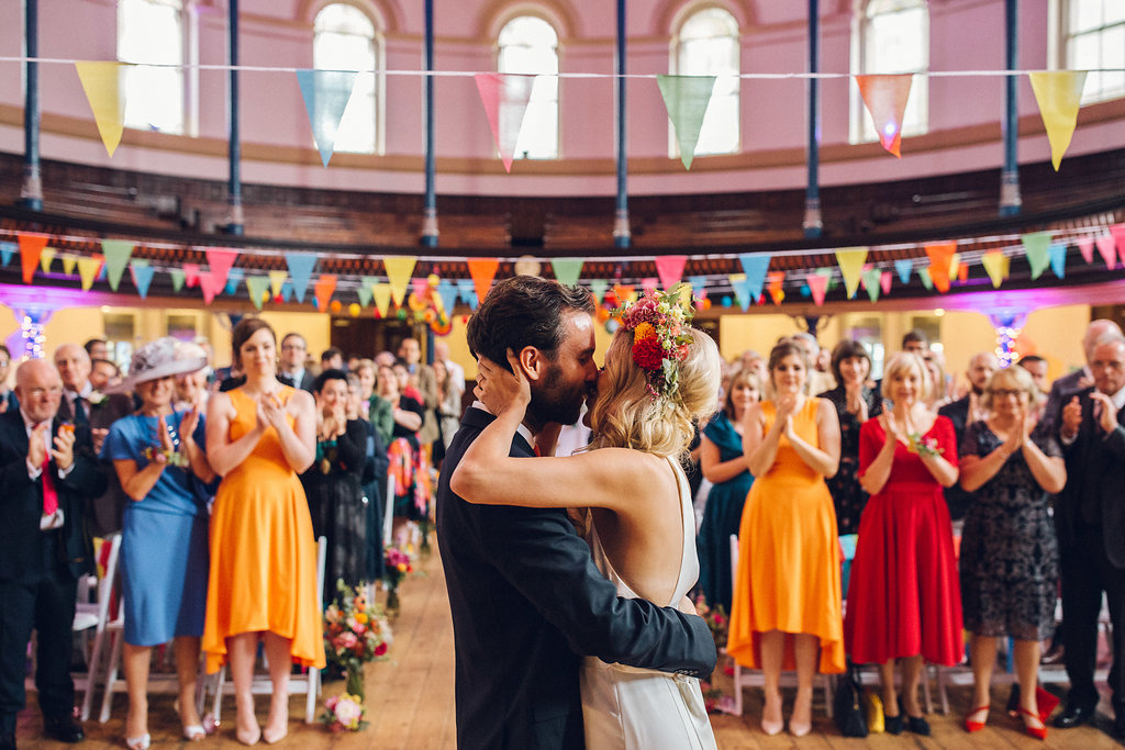 Colourful Fiesta Hackney Round chapel London Colourful fun Wedding Photography