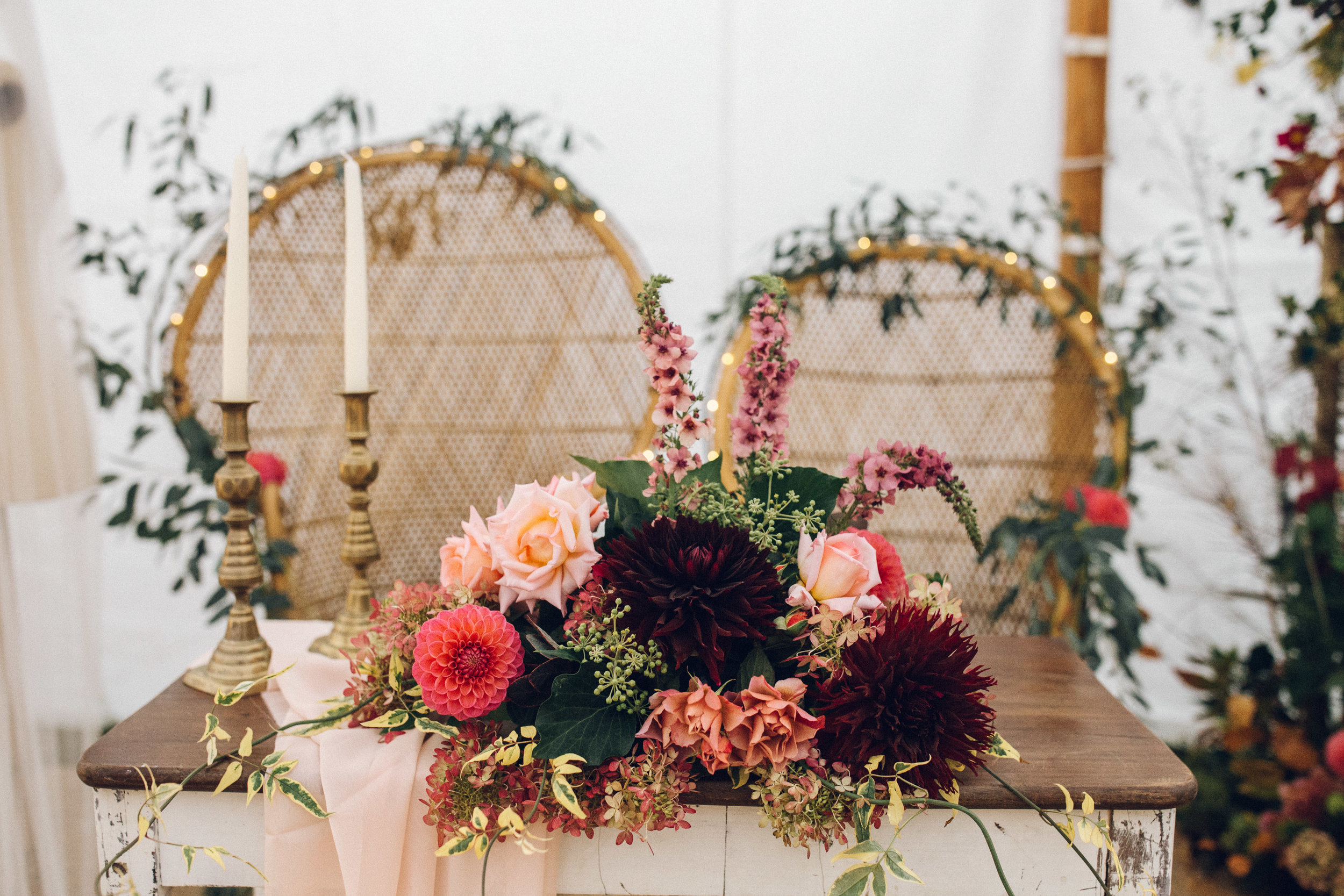 Suppliers: Furniture -   Brown Birds   // Flowers -   The Country Garden Flower Company