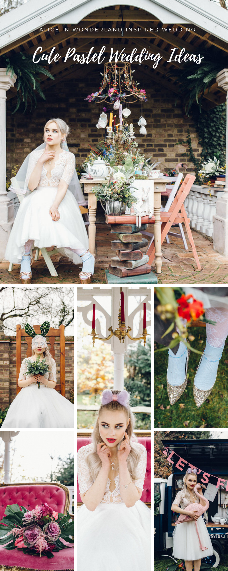 Alice in Wonderland Inspired Wedding Ideas Marley Brook House Cute Pastel Wedding