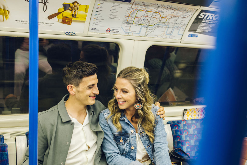 London couple shoot Tube