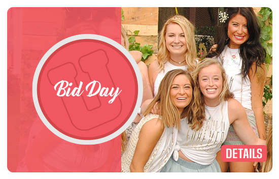 Bid Day photography is always free with University Photo. Pictures are available for members to order on Bid Day with no requirement.