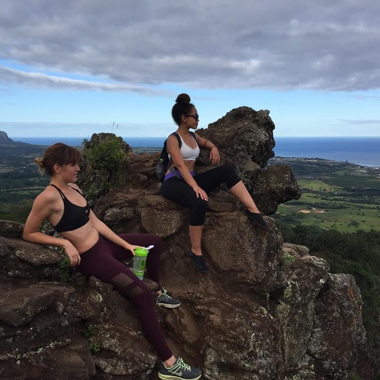 Top of Sleeping Giant with Alex, my Airbnb host's daughter