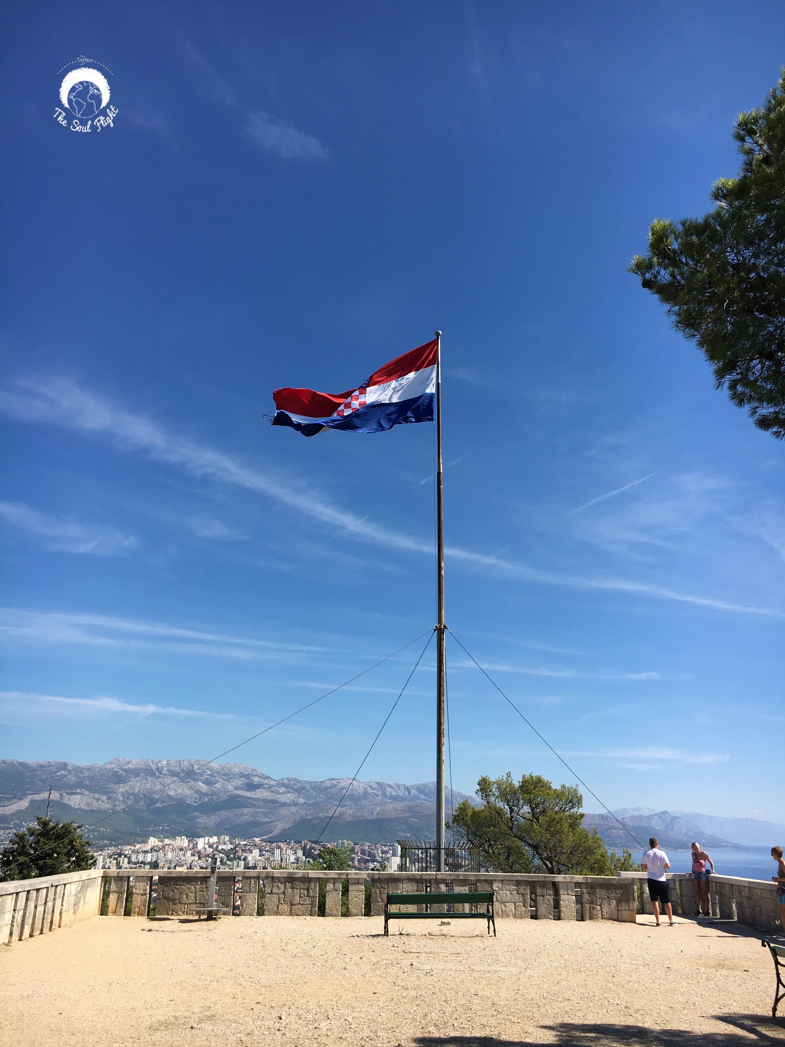Croatian Flag on Marjan Hill