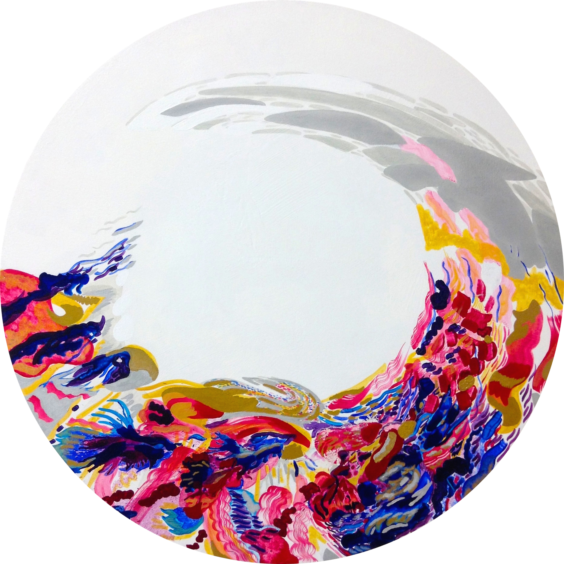 L I G H T. I  Acrylic on Canvas  1m diameter  SOLD