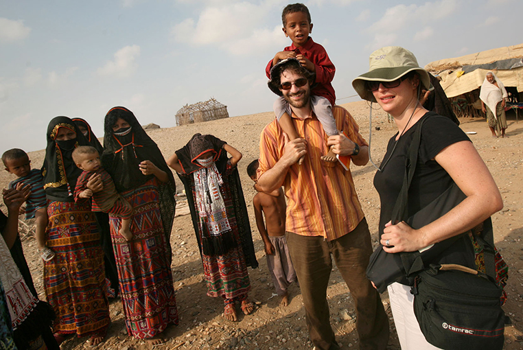 With the Rashaida nomads, in Eritrea