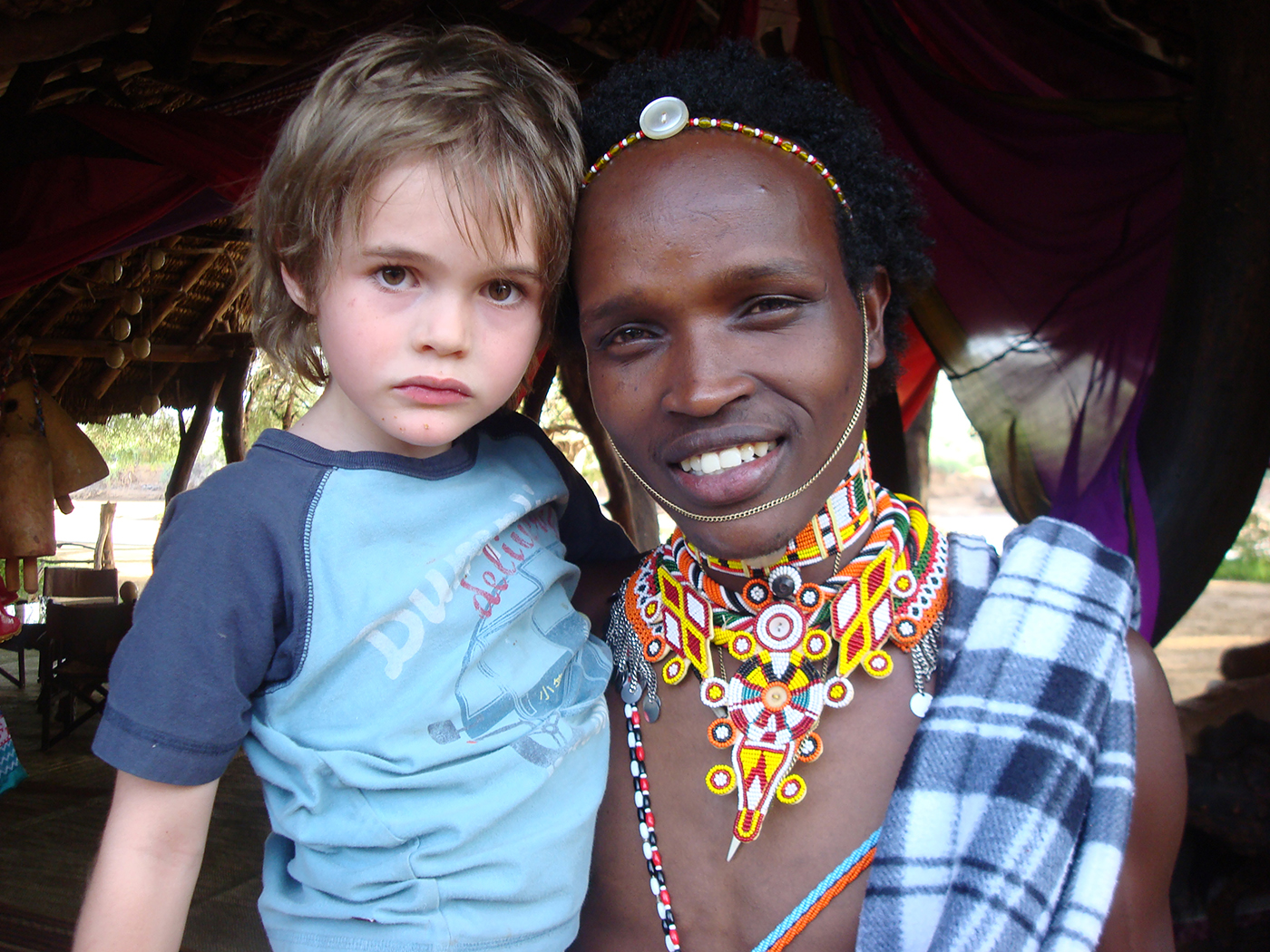Apollo and a Samburu friend in northern Kenya